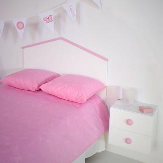 Testiera per bambini a casetta rosa