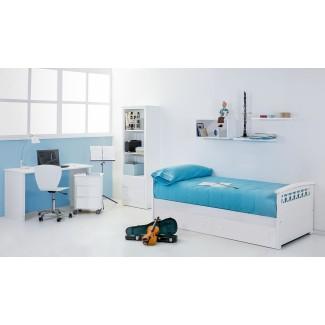 Camera da letto per ragazzi letto con cassetti Stelle