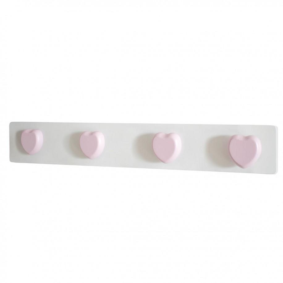 Appendiabiti da parete cuore rosa