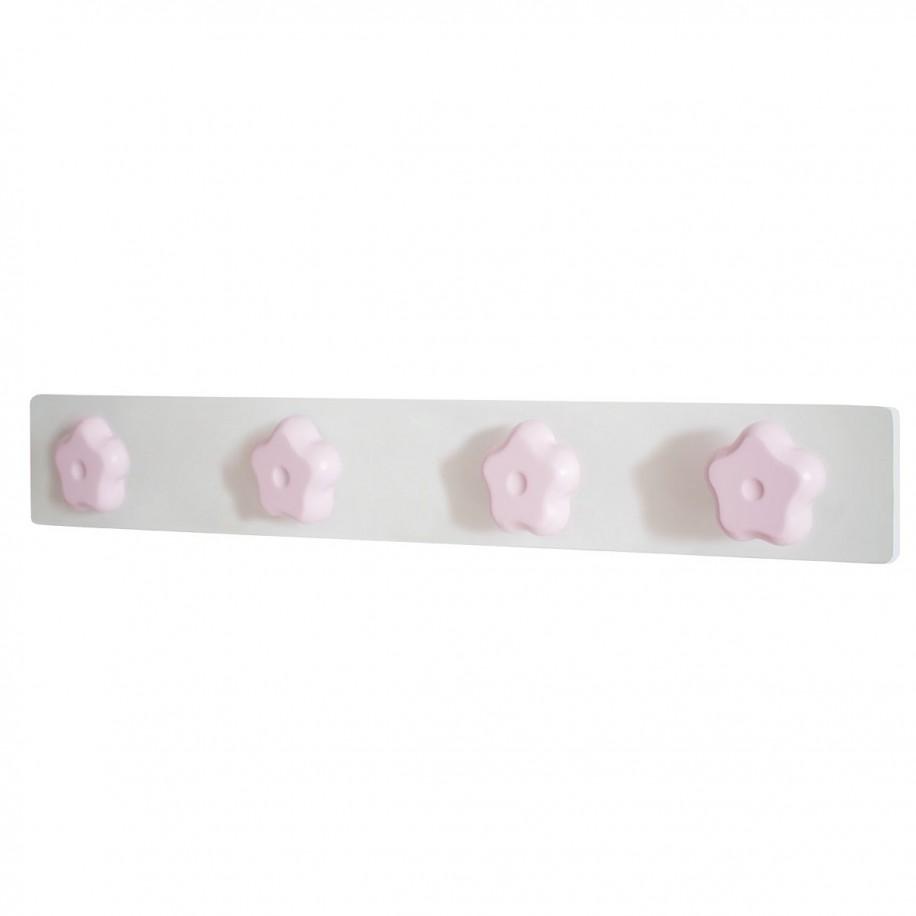 Appendiabiti da parete fiore rosa