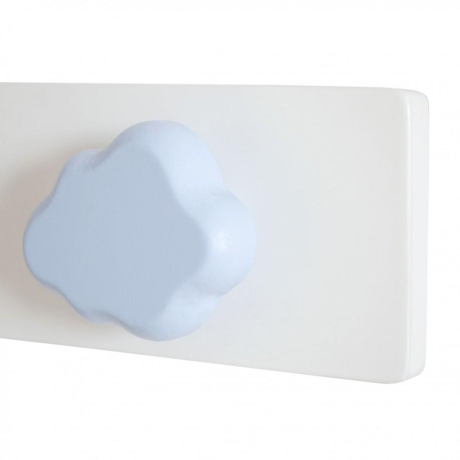 Appendiabiti da parete dettaglio nuvola blu