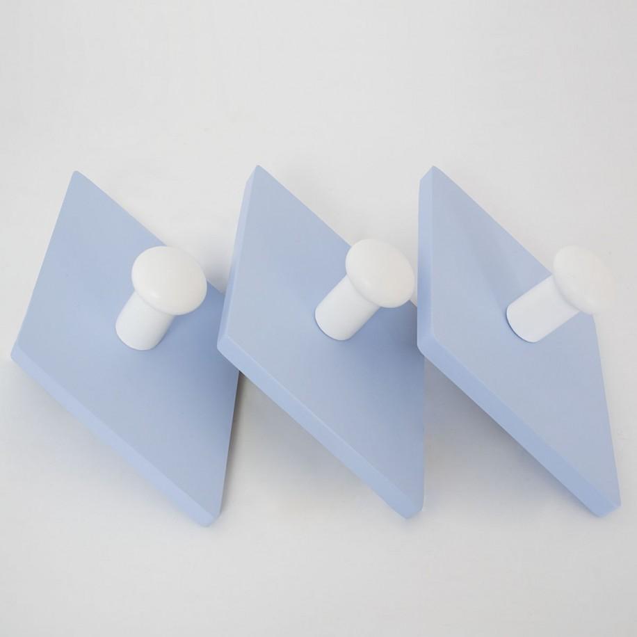 Appendiabiti a parete Rombo blu