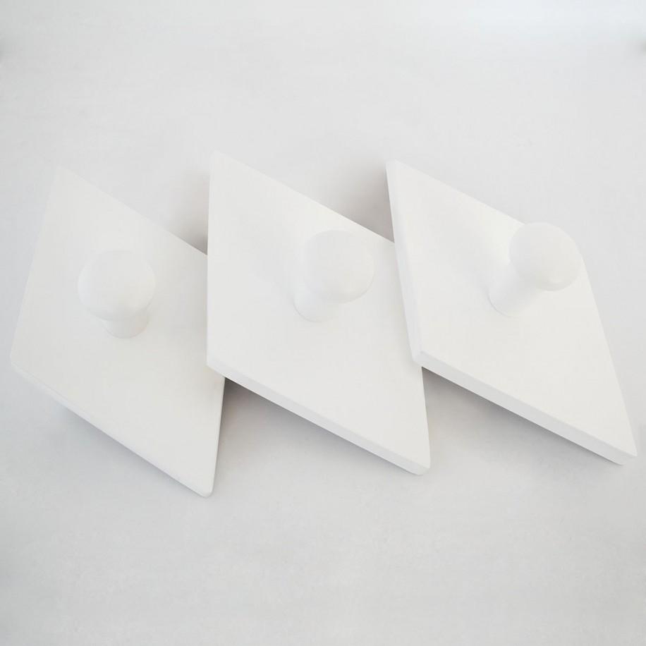 Appendiabiti a parete Rombo bianco