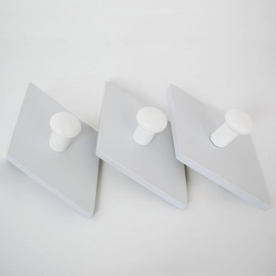 Appendiabiti a parete Rombo grigio