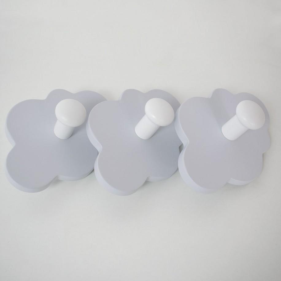 Appendiabiti a parete Nuvola grigio