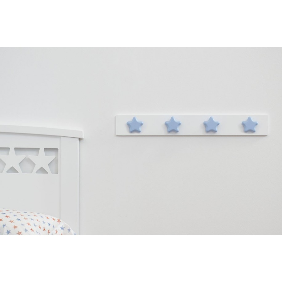 Appendiabiti da parete stella blu