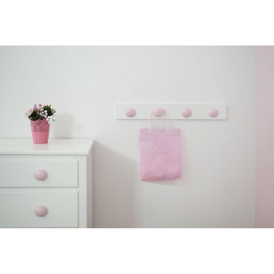 Appendiabiti da parete tondo rosa