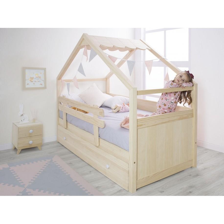 Letto a Casetta di legno per bambini