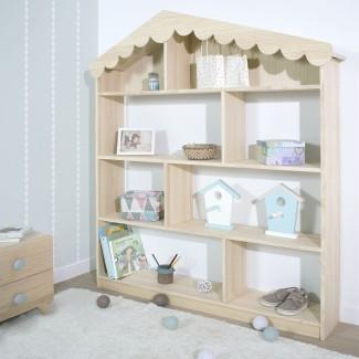 Libreria per bambini a Casetta Legno Naturale