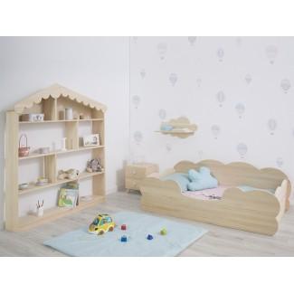 Camera da letto Montessori Nuvola Legno Naturale