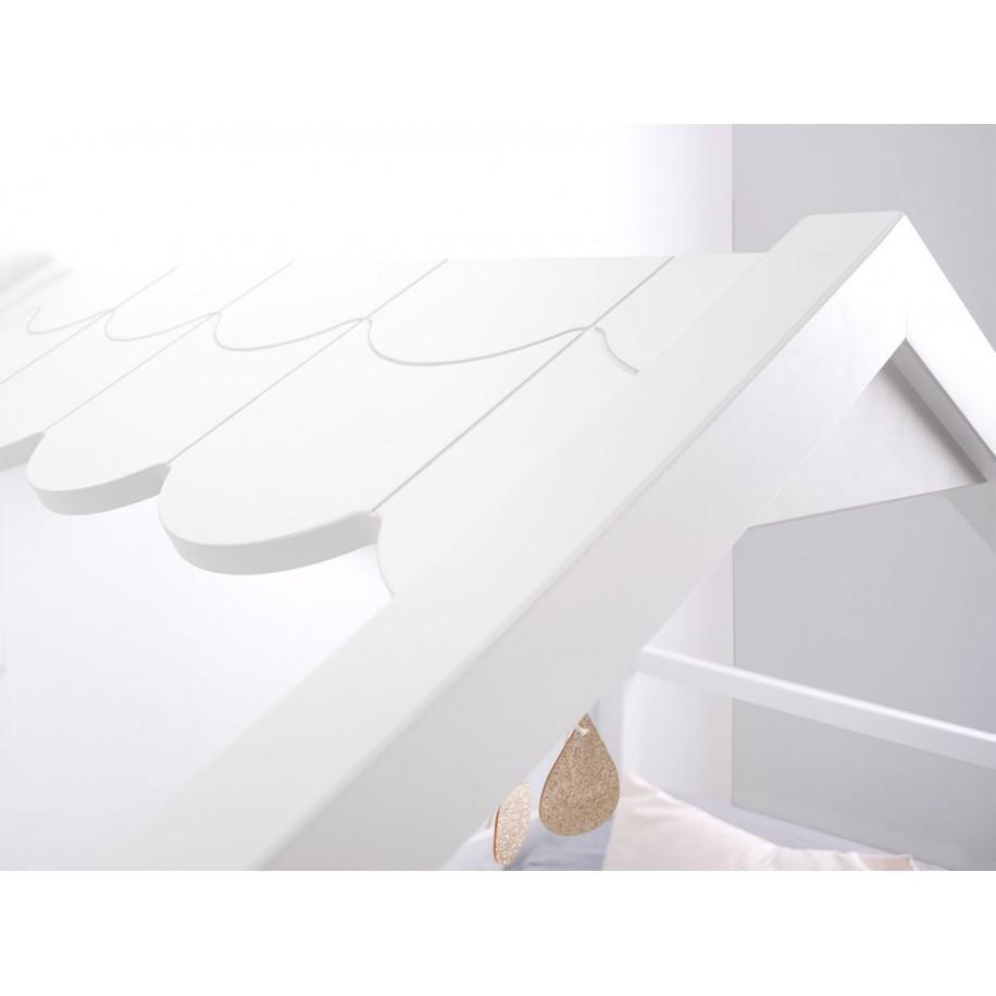 Letto a casetta dettaglio tetto