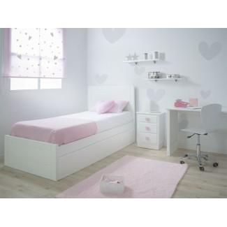 Camera da letto Lineare pediera bassa e letto estraibile