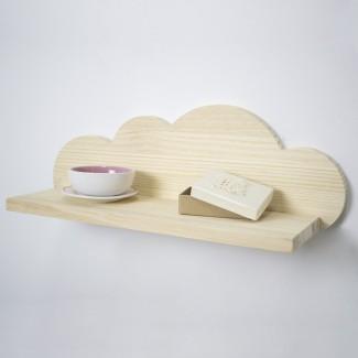 Mensola in legno naturale Nuvola